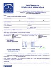 ARWA Water and Wastewater Membership Form