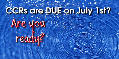 CCRs are due July 1st.... are you ready?